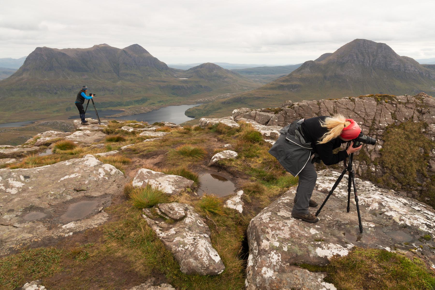 Auf Star Pollaidh, Assynt Fotoreise, Schottland