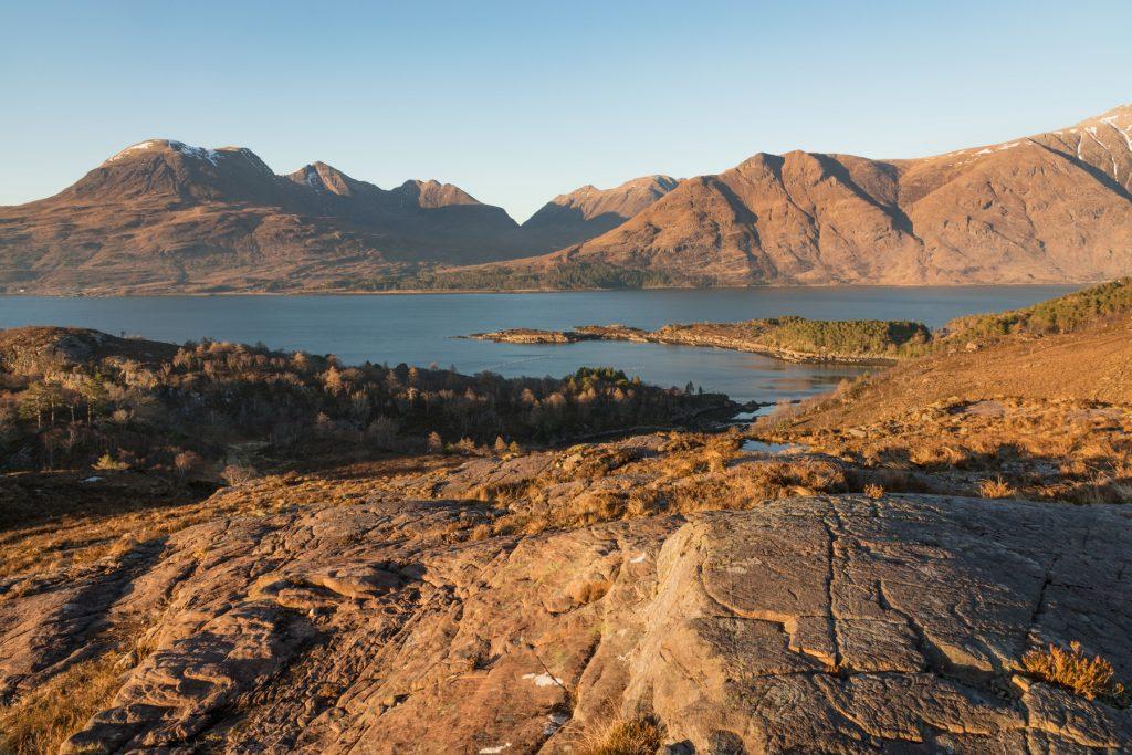 Beinn Allirin Abendsonne, Torridon Fotoreise, Schottland
