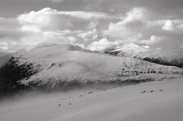 Beinn a Chrulaiste nach dem Sturm, Glencoe, Schottland