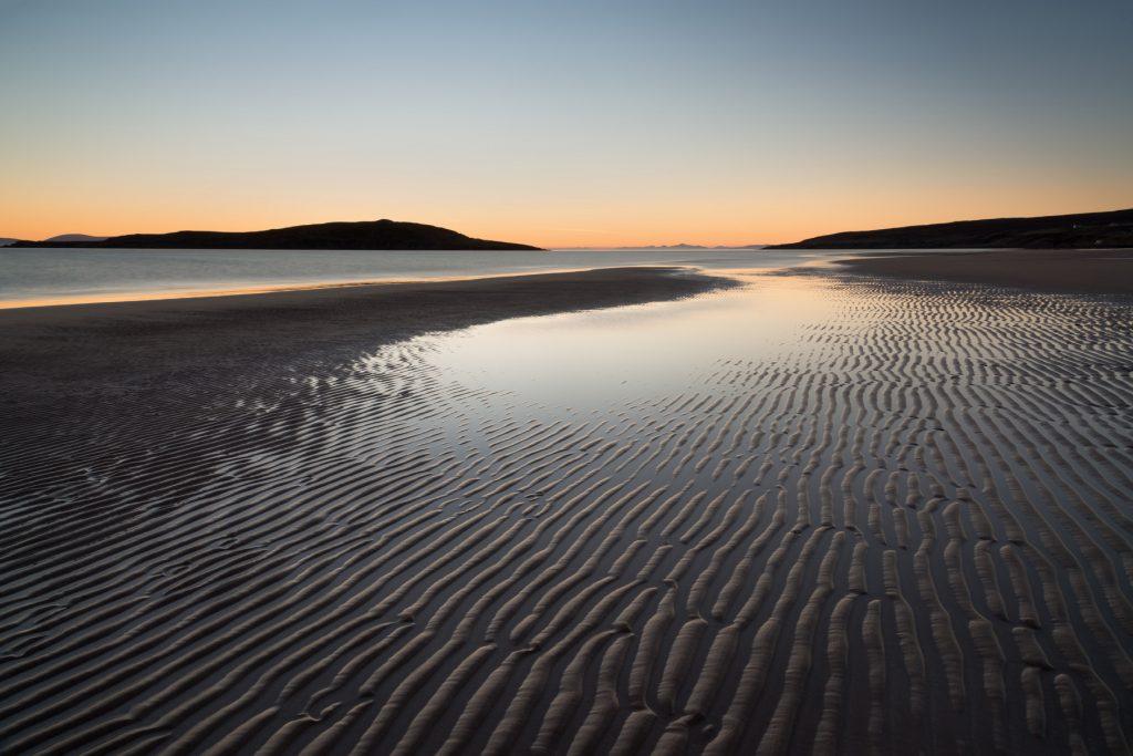 Big Sand Sonnenuntergang, Gairloch, Torridon Fotoreise
