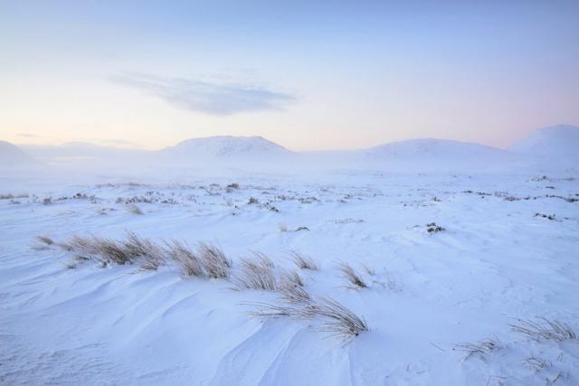 Blaue Stunde, Rannoch Moor, Schottland