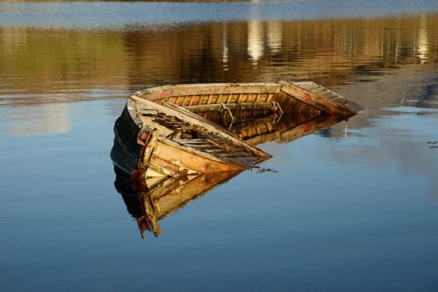 Boot in Carbost, Insel Skye