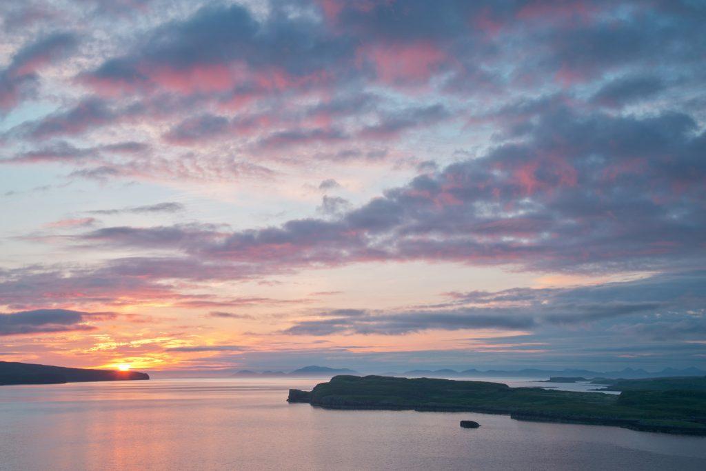 Sonnenuntergang bei Dunvegan, Skye