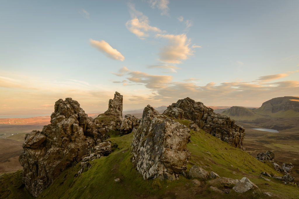 Abendleuchten, Quiraing, Isle of Skye Fotoreise