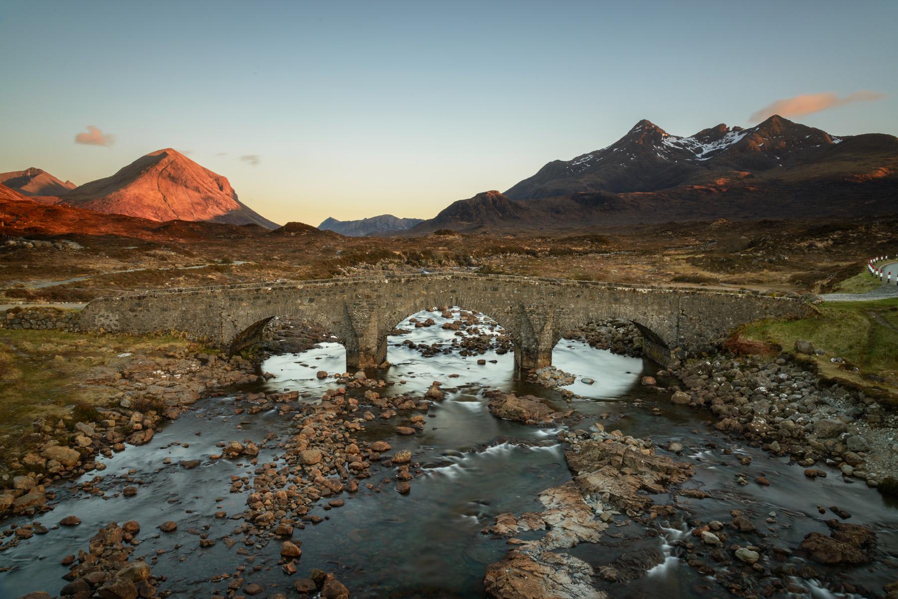 Marsco glüht, Sligachan, Insel Skye