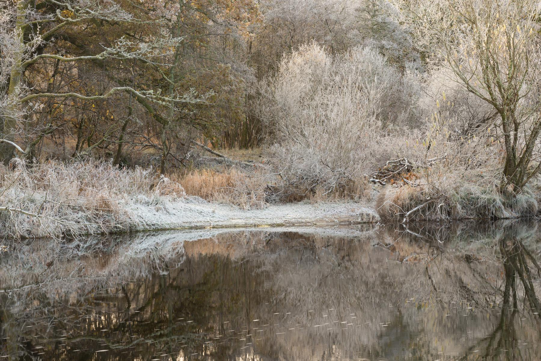 Frost am Earn I, Strathearn, Perthshire, Schottland