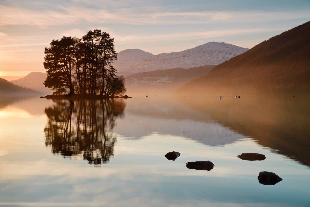 Kenmore Sonnenuntergang, Loch Tay, Schottland
