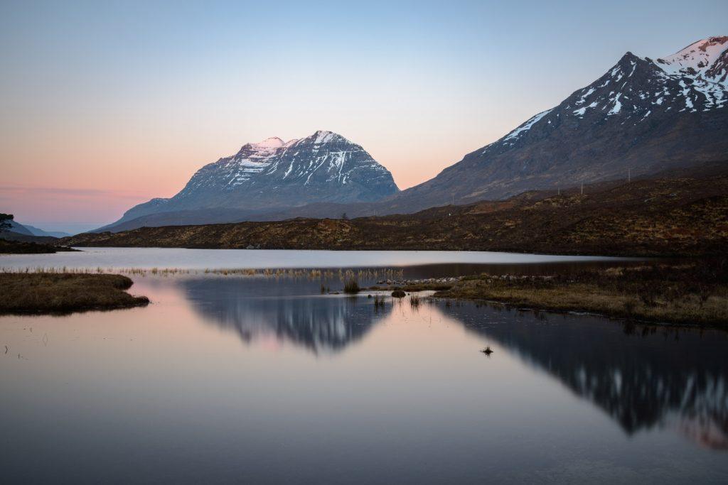 Liathach Spiegelung, Loch Clair, Torridon, Schottland