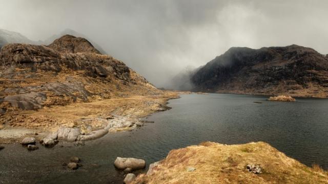 Loch Coruisg Panorama, Insel Skye, Schottland