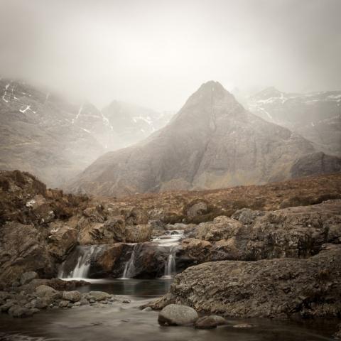 Fairy Pools im Nebel, Isle of Skye