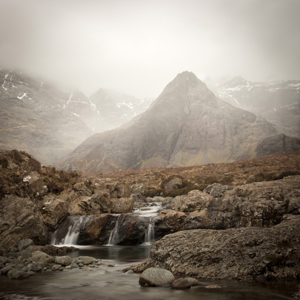 Fairy Pools im Nebel, Isle of Skye
