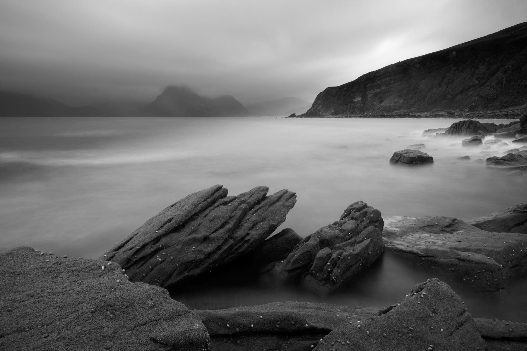 Stimmungsvoller Sonnenuntergang Elgol, Insel Skye, Schottland