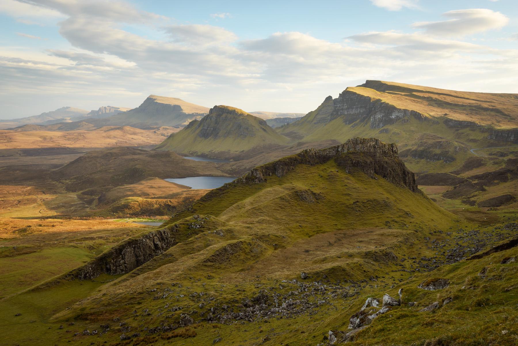 Weiches Abendlicht am Quiraing, Isle of Skye Fotoreise