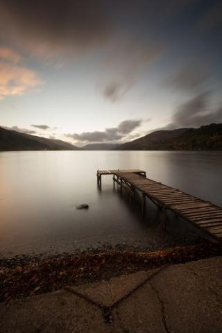 Sonnenuntergang, St. Fillans, Schottland