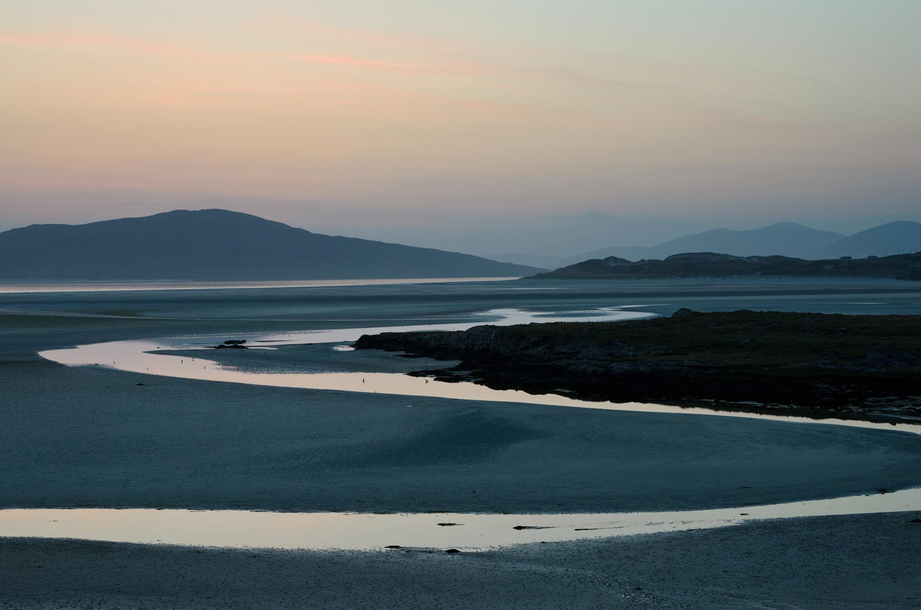 Seilebost Blaue Stunde, Harris, Äußere Hebriden, Schottland