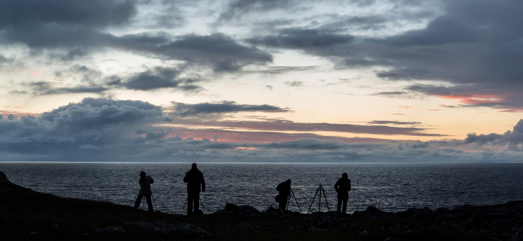 Sonnenuntergang bei Reiff (Foto Peter) Assynt Fotoreise