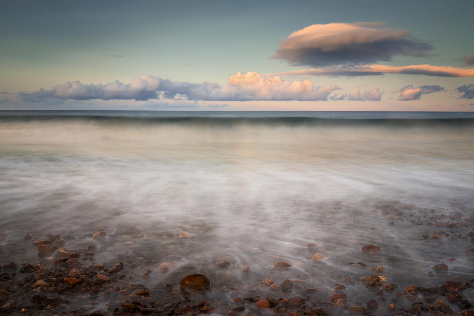 Speybay Abendlicht, Moray, Schottland