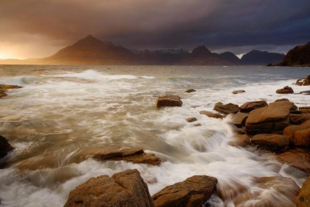 Stürmischer Sonnenuntergang, Elgol