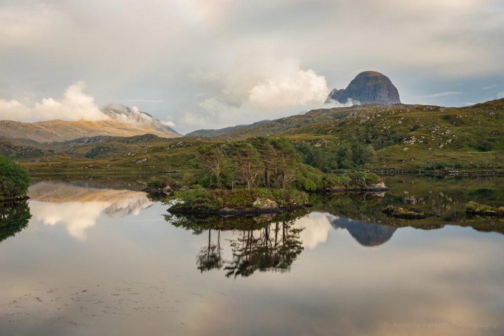 Evening Light over Suilven and Canisp, Lochinver, Scotland