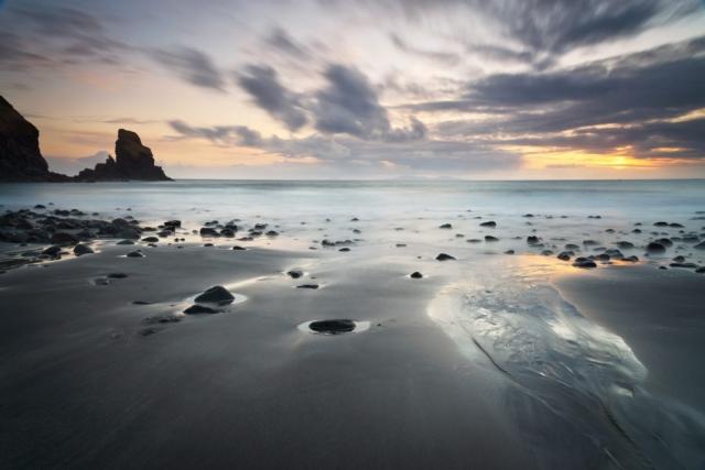 Sonnenuntergang Talisker Bay, Skye