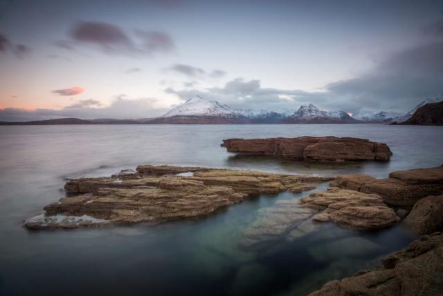 Winterliche Morgenröte, Elgol, Insel Skye