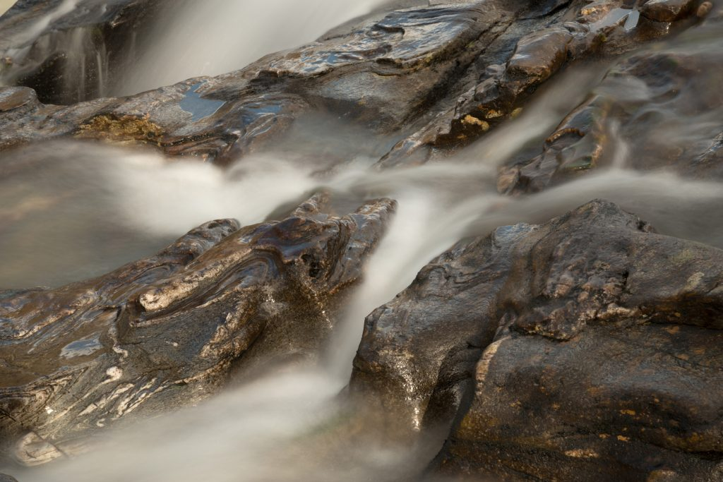 Glen Orchy Wasserfall Detail