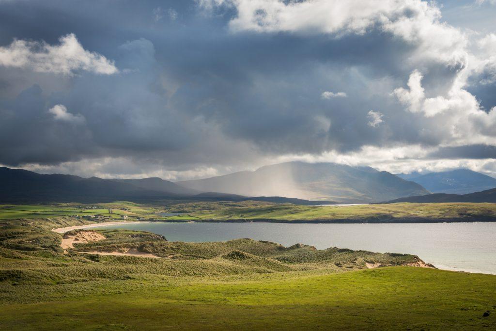 Schauer über den Northwest Highlands bei Durness