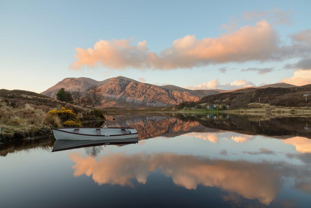 Sonnenuntergang am Loch Stack