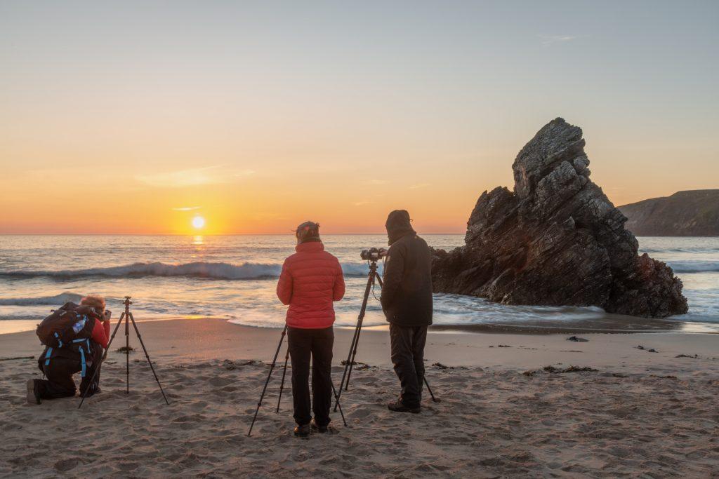 Sonnenaufgang am Strand von Sango, NW Highlands Fotoreise