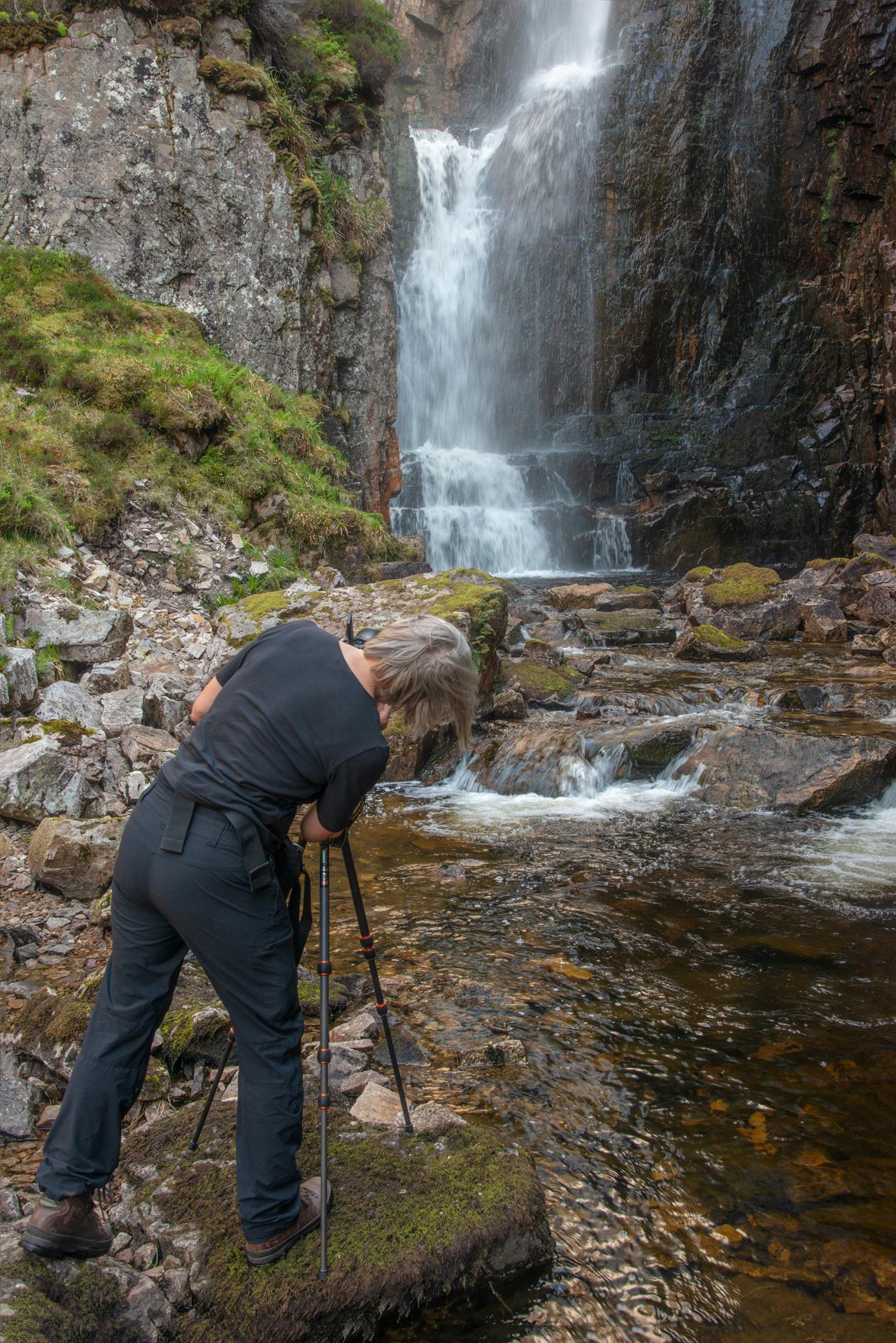 Fotografieren am Wasserfall der klagenden Witwe