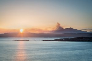 Feuriger Sonnenaufgang, Suilven