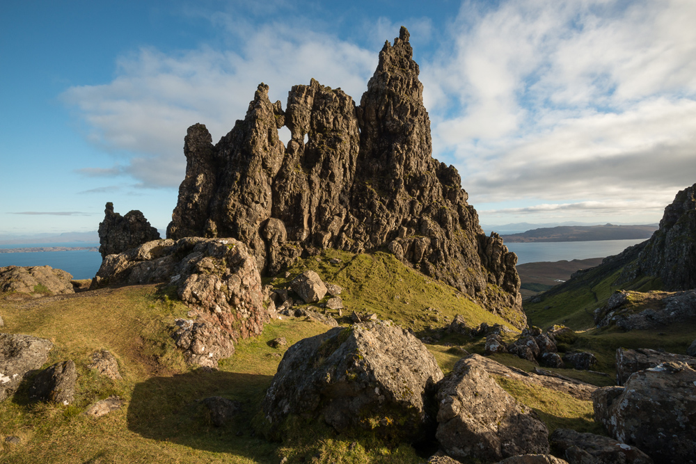 Steinskulpturen am Old Man of Storr