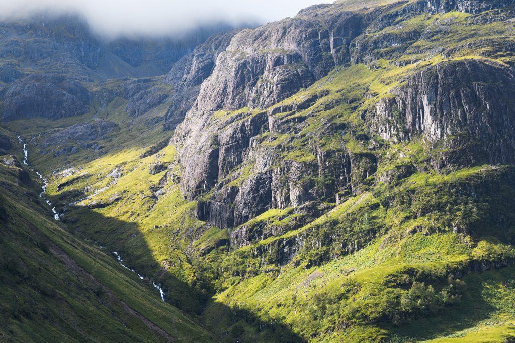 Blick in das lost valley, Glencoe